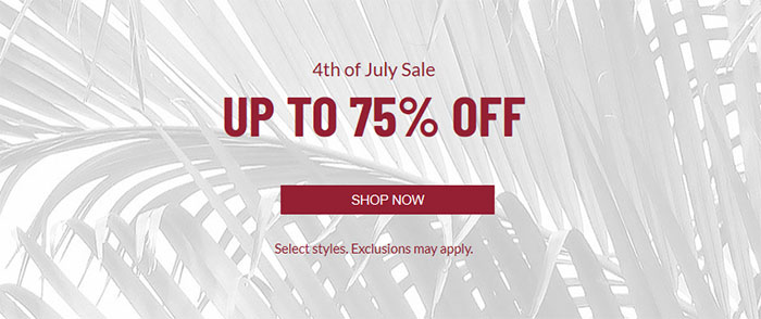 The 4th of July Sale: Up to 75% off