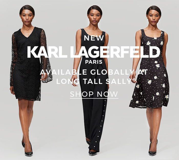 Karl Lagerfeld Paris for Long Tall Sally now available globally